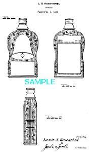 Patent Art: 1930s Schenley Golden Wedding Bottle