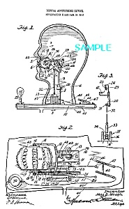 Patent Art: 1910s Dental Advertising Device - Matted