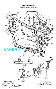 Patent Art: 1910s DENTAL ARTICULATOR - Matted Print (Image1)