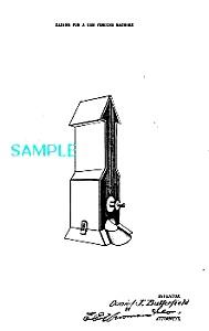 Patent Art: 1920s WRIGLEY'S GUM VENDING MACHINE-matted (Image1)