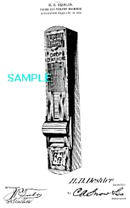 Patent Art: 1910s GUM VENDING MACHINE-matted (Image1)