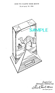 Patent Art: 1930s CAMEL CIGARETTE VENDING MACHINE (Image1)