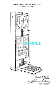 Patent Art: 1930s COIN-OP SCALE & VENDING MACHINE (Image1)