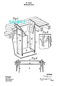 Patent Art: 1860s BURGLAR TRAP-matted (Image1)