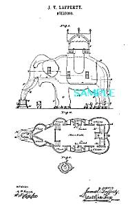 Patent Art: 1880s FAMOUS ELEPHANT BUILDING (Image1)