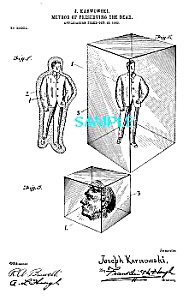 Patent Art: Early 1900s  PRESERVE DEAD IN CLEAR GLASS!! (Image1)