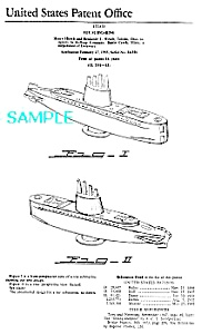 Patent Art: 50s Baking Powder Submarine Cereal Premium