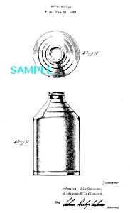 Patent Art: 1930s CONE TOP CAN - Matted Print (Image1)