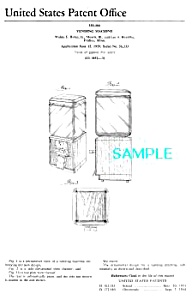 Patent Art: 1950s GUM - CANDY VENDING MACHINE - matted (Image1)