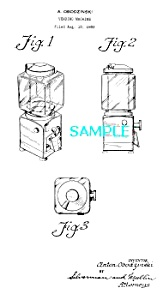 Patent Art: 1950s GUMBALL MACHINE-matted (Image1)