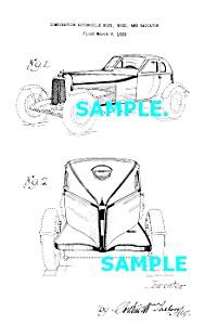 Patent Art: 1929 AUBURN BOATTAIL Cabin Speedster Auto (Image1)