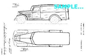 Patent Art: 1930/31 REO PANEL TRUCK - Matted (Image1)