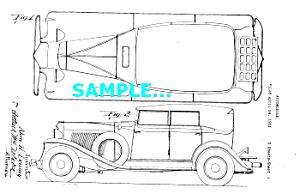 Patent Art: 1931 AUBURN AUTOMOBILE - matted (Image1)