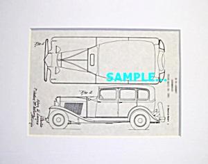 Patent Art: 1931-32 AUBURN AUTOMOBILE - matted (Image1)