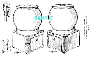 Patent Art: 1910s GUMBALL MACHINE - matted (Image1)
