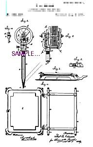 Patent Art: 1870s T. Edison Perf. Pen C - TATTOO 8x10 (Image1)