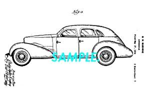 Patent Art: 1934 Design CORD AUTOMOBILE (Image1)