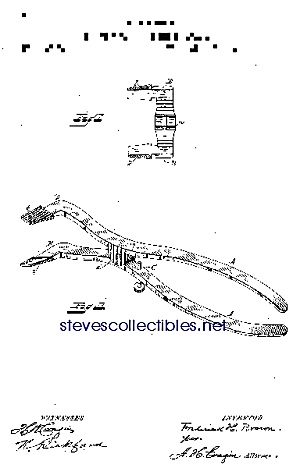 Patent Art: 1880s Dental Mouth Opening Forceps - Matte
