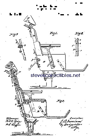 Patent Art: 1870s IMPROVED DENTAL CHAIR - Matted Print (Image1)