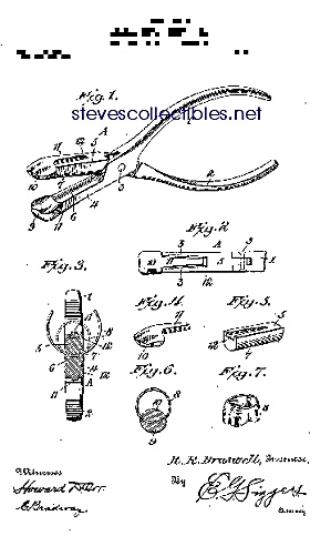 Patent Art: 1910s Dental Crown Forming - Matted Print