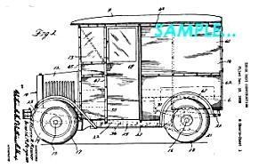 Patent Art: 1931 Divco-Detroit MILK TRUCK - matted (Image1)