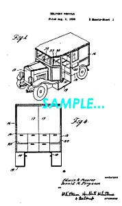 Patent Art: 1933 Continental-Divco MILK TRUCK - matted (Image1)