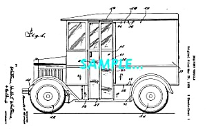 Patent Art: 1934 Continental-Divco MILK TRUCK - matted (Image1)