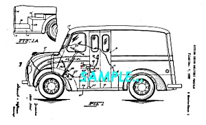 Patent Art: 1940 Divco-Twin MILK TRUCK - matted (Image1)