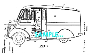 Patent Art: 1942 Divco-Twin MILK TRUCK - matted (Image1)