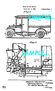 Patent Art: 1935 Continental Divco MILK TRUCK - matted (Image1)
