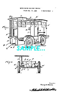 Patent Art: 1931 Divco-Detroit DELIVERY TRUCK - matted (Image1)
