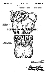 Patent Art: 1945 SHAWNEE ELEPHANT POTTERY PITCHER (Image1)