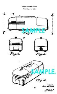 Patent Art: 1930s BEL GEDDES Art Deco Vacuum Cleaner (Image1)