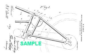 patent art 1918 harley davidson motorcycle frame image1