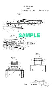 Patent Art: 1923 HARLEY DAVIDSON Motorcycle Seat (Image1)