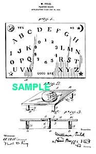 Patent Art: 1910s Fuld OUIJA BOARD - matted (Image1)