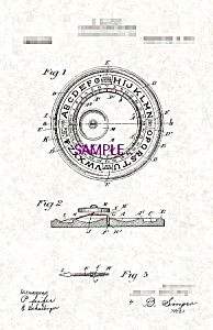 Patent Art: 1910s Blaikley OUIJA BOARD  - matted (Image1)