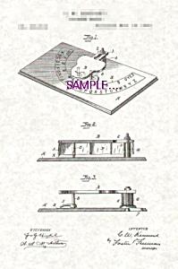 Patent Art: 1890s Kennard OUIJA BOARD  - matted (Image1)