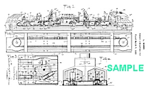 Patent: 1920s MARX BUSY BRIDGE Windup (Image1)