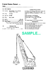 Patent Art: 1970s TONKA Toy CRANE - matted (Image1)
