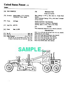 Patent Art: 1970s TONKA Toy ROAD GRADER (Image1)