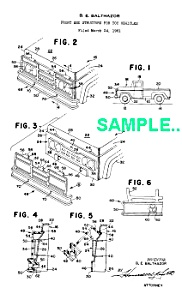 Patent Art: 1960s BUDDY L Toy PICKUP TRUCK (Image1)