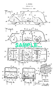 **Patent: 1930s MARX Toy ARMORED CAR BANK** (Image1)