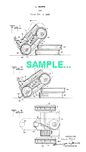 **Patent: 1930 MARX Climbing Tractor Windup** (Image1)