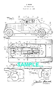 **Patent: 1930s MARX G-Man PURSUIT CAR Toy** (Image1)