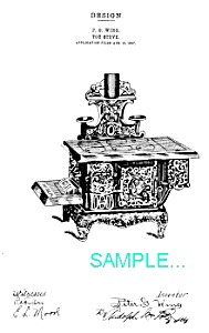 Patent Art: Toy Cast Iron Stove ..the Queen..