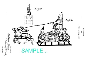 Patent Art: 1920s Strauss Santa Claus Toy-matted