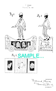 Patent Art: 1920s Strauss Black/circus Toy