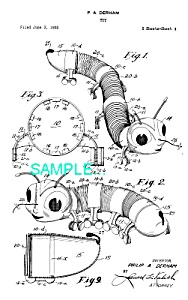 Patent Art: 1960s Slinky Inchworm Toy - Matted