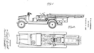 Patent Art: 1920s Lundahl - Buddy L Toy Fire Truck